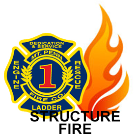 Structure fire with entrapment