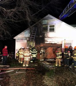 Assist to Exeter on structure fire