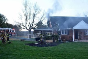 Structure fire in Oley